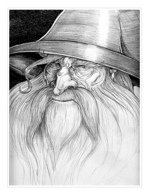 Gandalf Artwork par Andy Smith